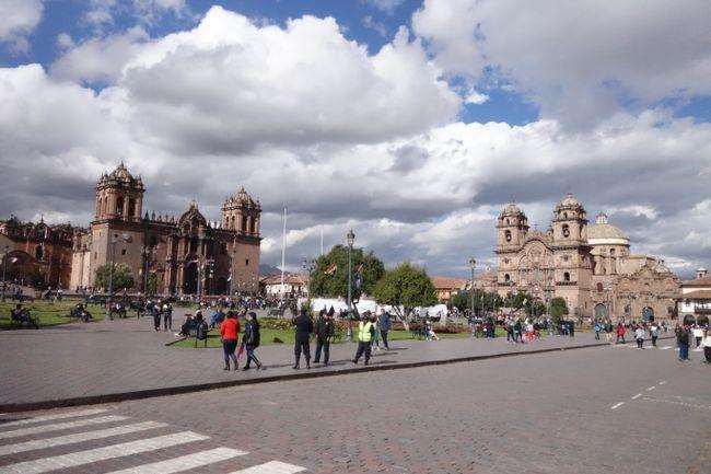 Der zentrale Plaza de Armas in Cusco.