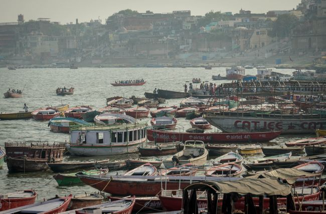 typisches Bild von Varanasi