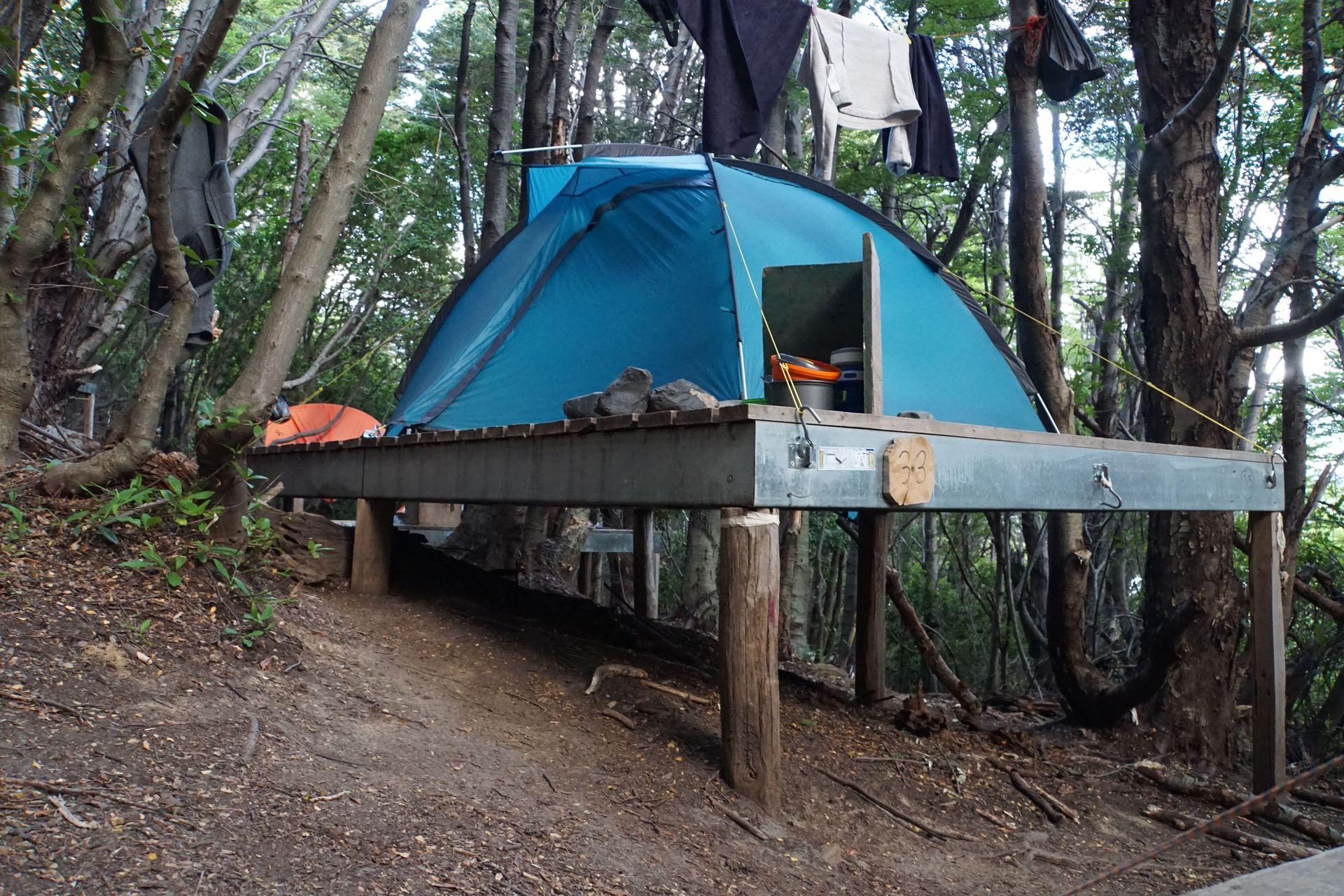 Platform im Camp Frances
