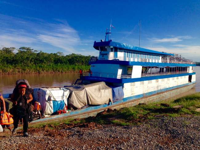 Our boat after we arrived in Yurimaguas