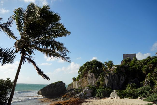 Maya ruins of Tulum - an important port town 1200 - 1521 AD