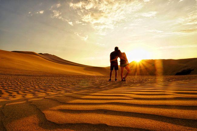 Die Schönheit der Dünen von Ica