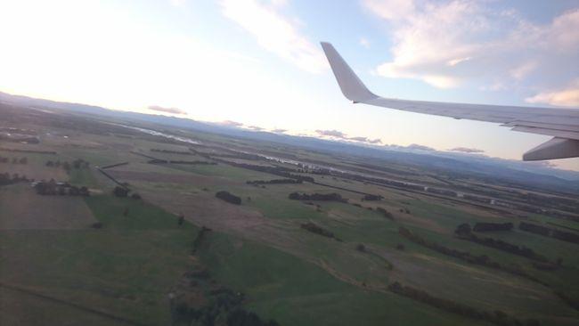 Letzter Blick auf Neuseelands grüne