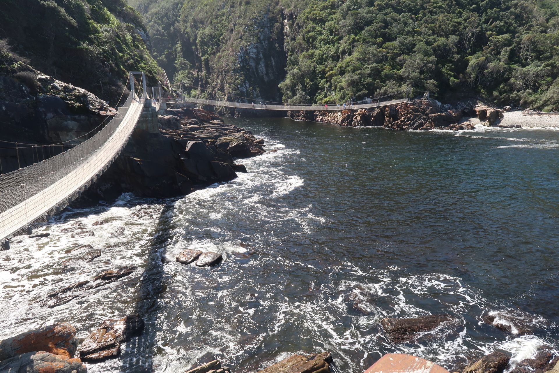 Storms River Mouth, Hängebrücke