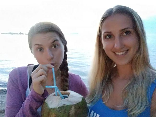 Coconut on the beach!