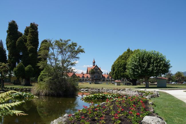 Altes Badehaus in den Government Gardens in Rotorua- heute Museum