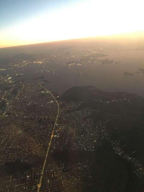Abflug Rio mit Sonnenuntergang