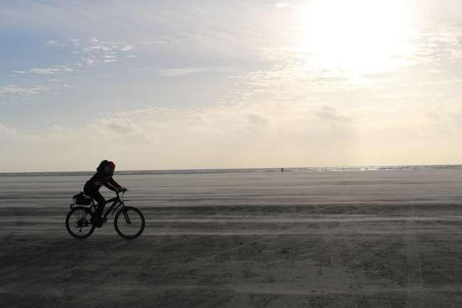 Radfahren am Strand von Fanø