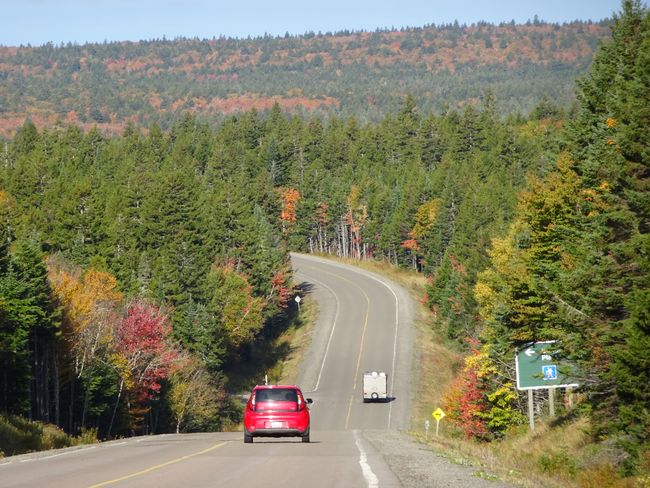 Hwy 114 durch den Fundy National Park