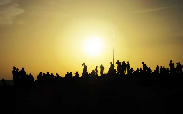 Sonnenuntergang am Piratabus
