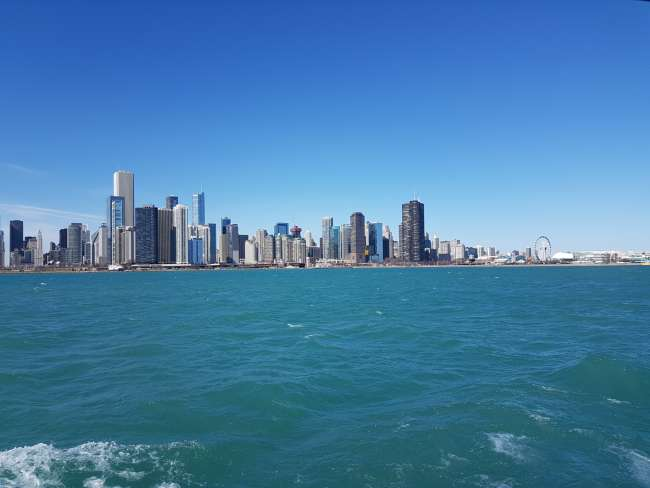 Skyline von Chicago vom Lake Michigan aus
