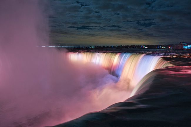 Illuminated Niagara Horseshoe Falls