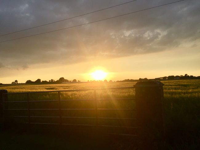 "Irland // Tag 5 // Sonnenuntergang am B&B ""Cradog Farmhouse"""