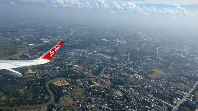 Vom Flugzeug...