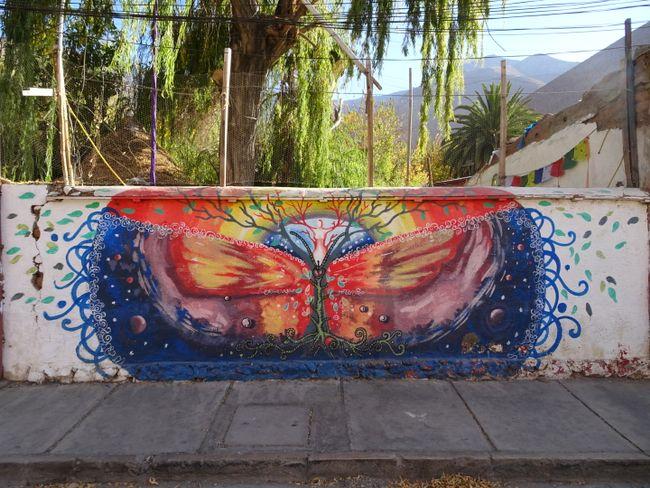 Graffiti im Valle de Elqui