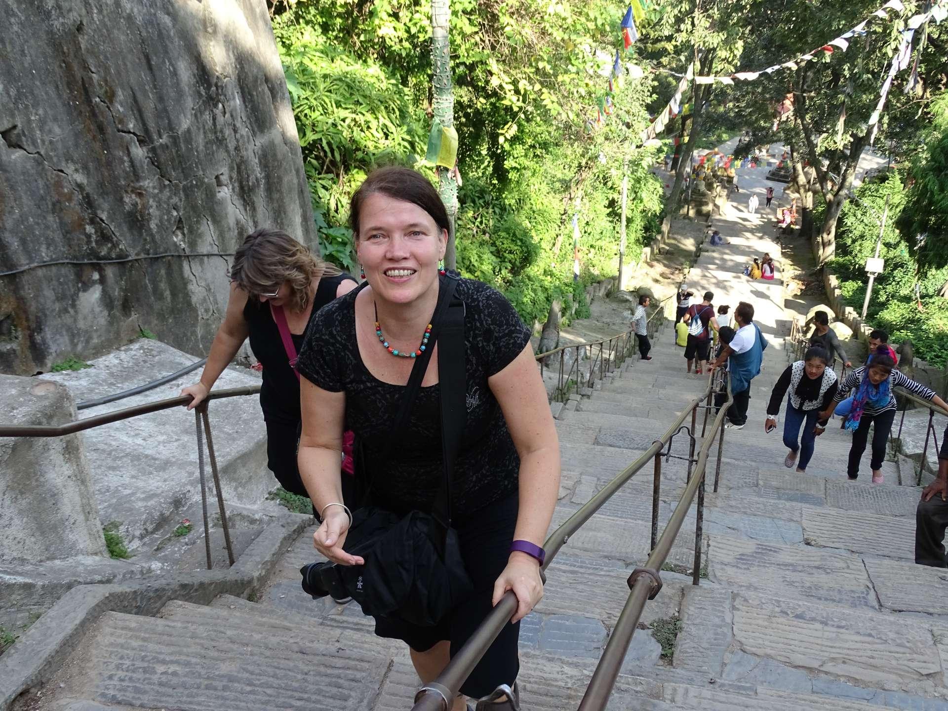 Aufstieg Swayambunath