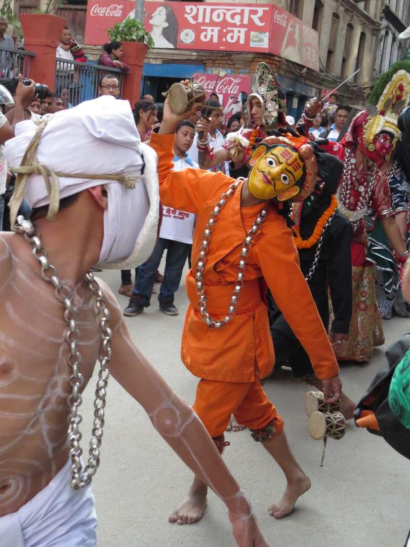 Straßenfest zu Ehren der Kumari