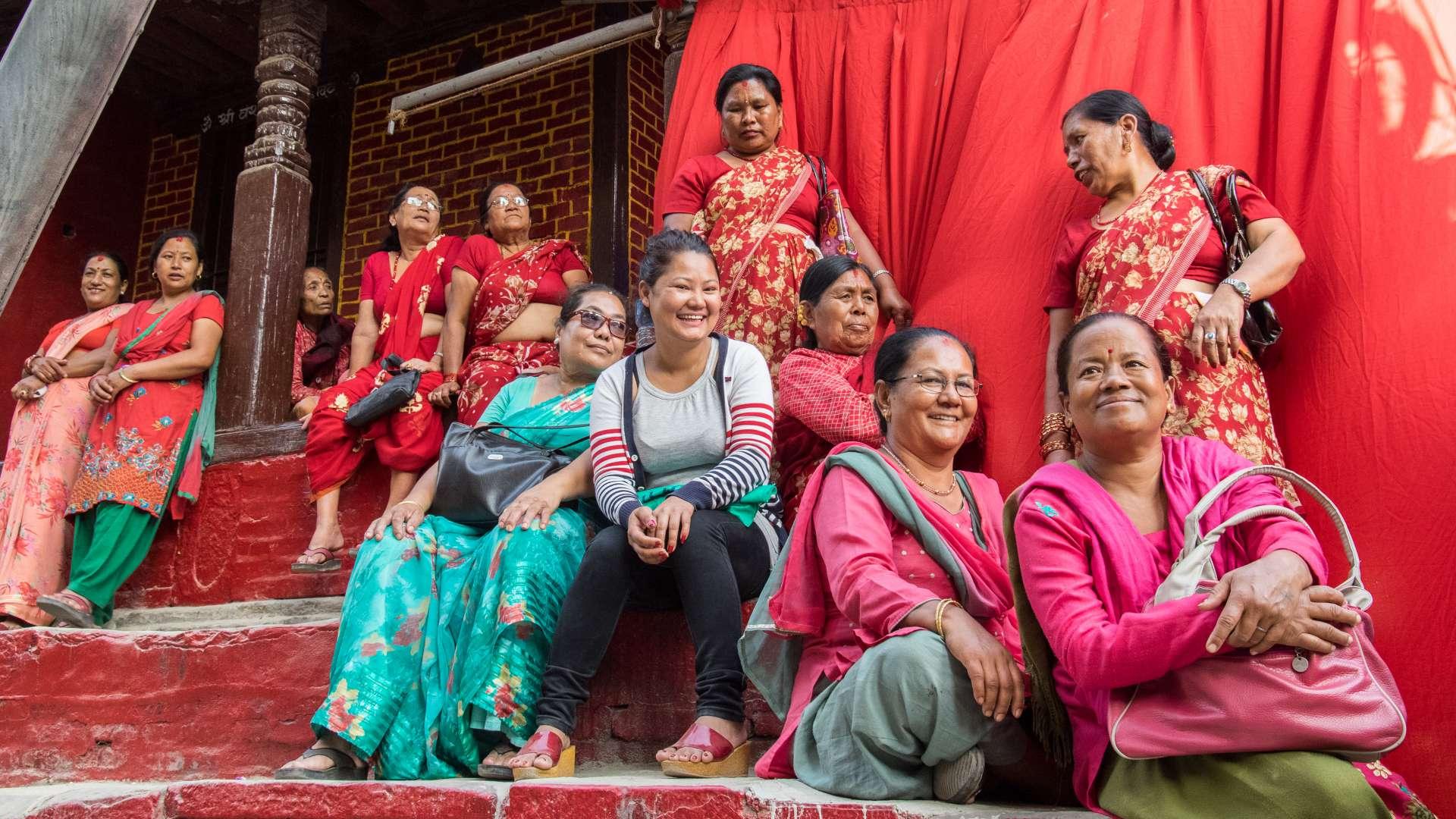 Frauenpower oder auch Amusement auf nepali