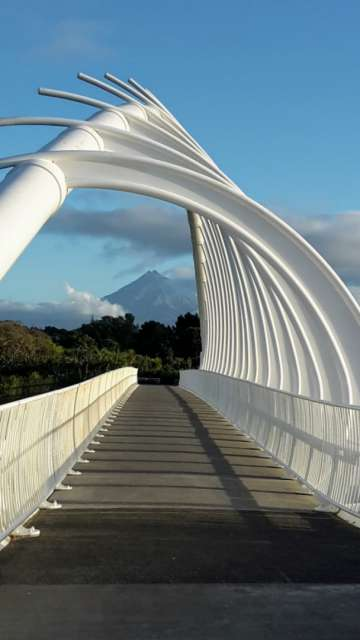 Fußgängerbrücke in New Plymouth