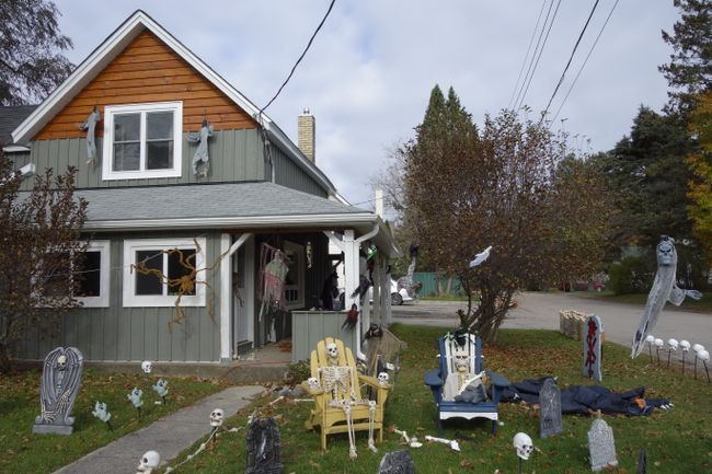 When it comes to decorating their houses for Halloween, some North Americans go nuts