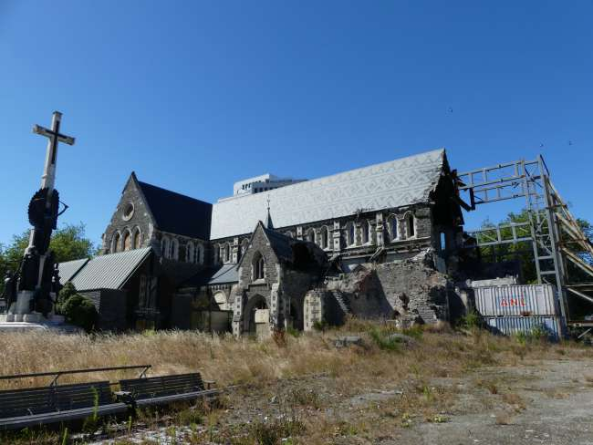 Ruine der Cathedral in Christchurch