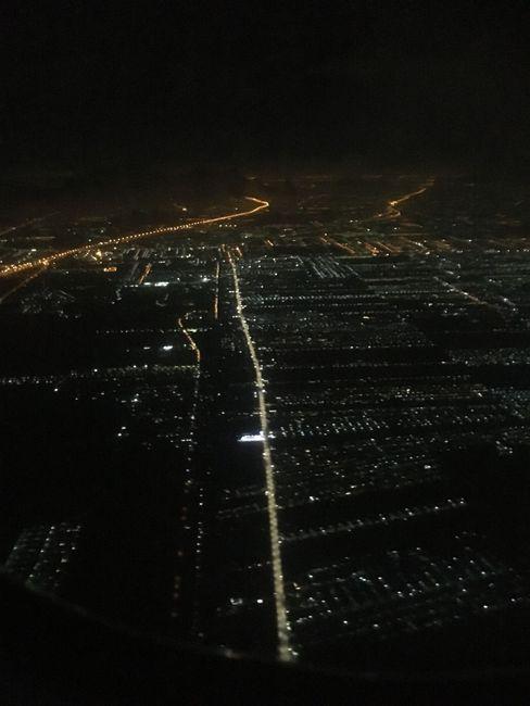 Bangkok von oben bei Nacht