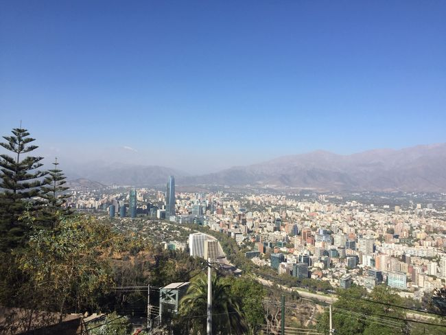 Das Zentrum der Stadt vom Cerro San Christobal (Einem Hügel in der Stadt)
