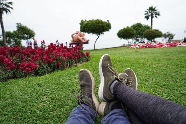 """Don't worry be happy"" im Parque del Amor"