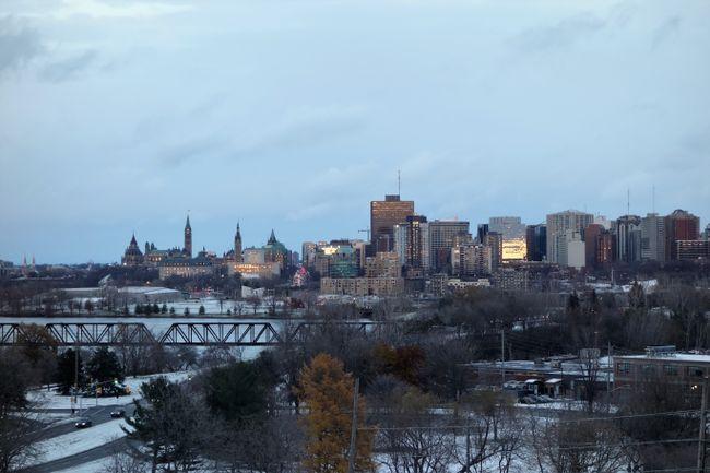 The skyline of Ottawa