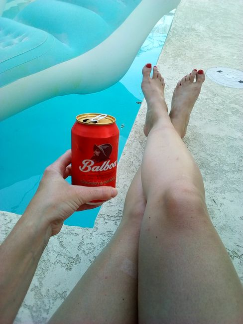 Chill day at the hostel and Panamanian beer