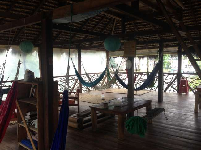 Our chill out area with a lot of hammocks