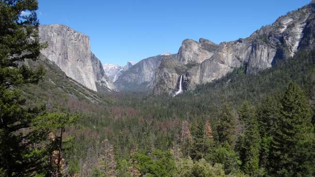 "Aussicht vom ""Tunnel View"" im Yosemite National Park"