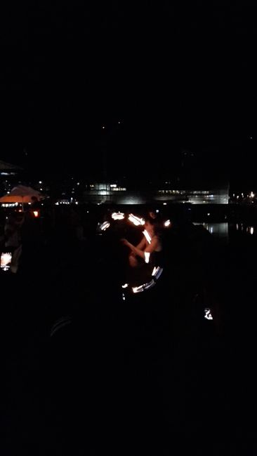 Fireshow at the warf