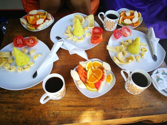 Frühstück in unserer Unterkunft
