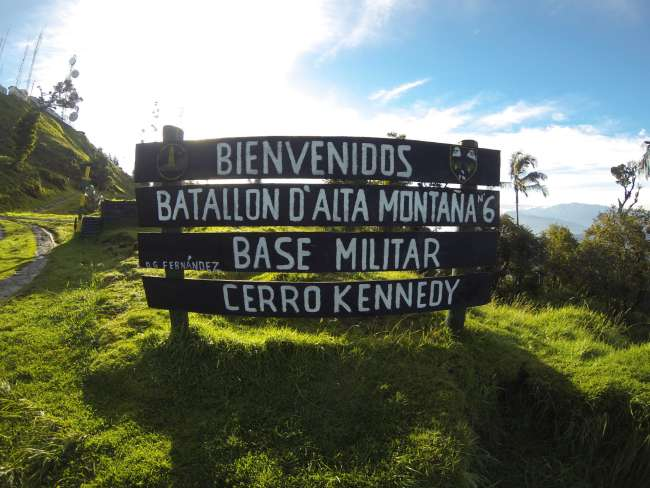 Cerro Kennedy - military base