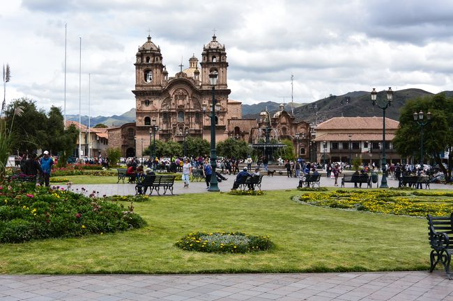 Kathedrale am Plaza de Armas in Cusco