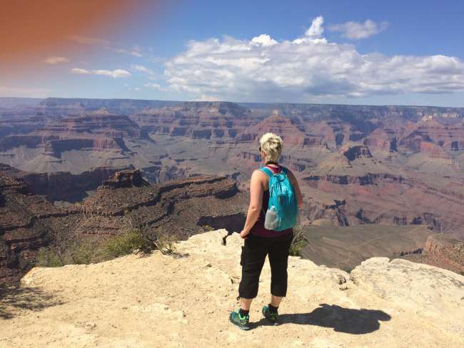 Entlang am South Rim des Grand Canyon