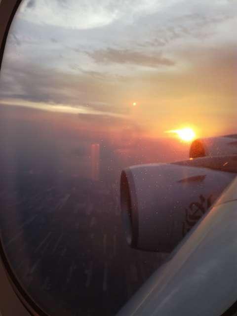 Anflug über Bangkok