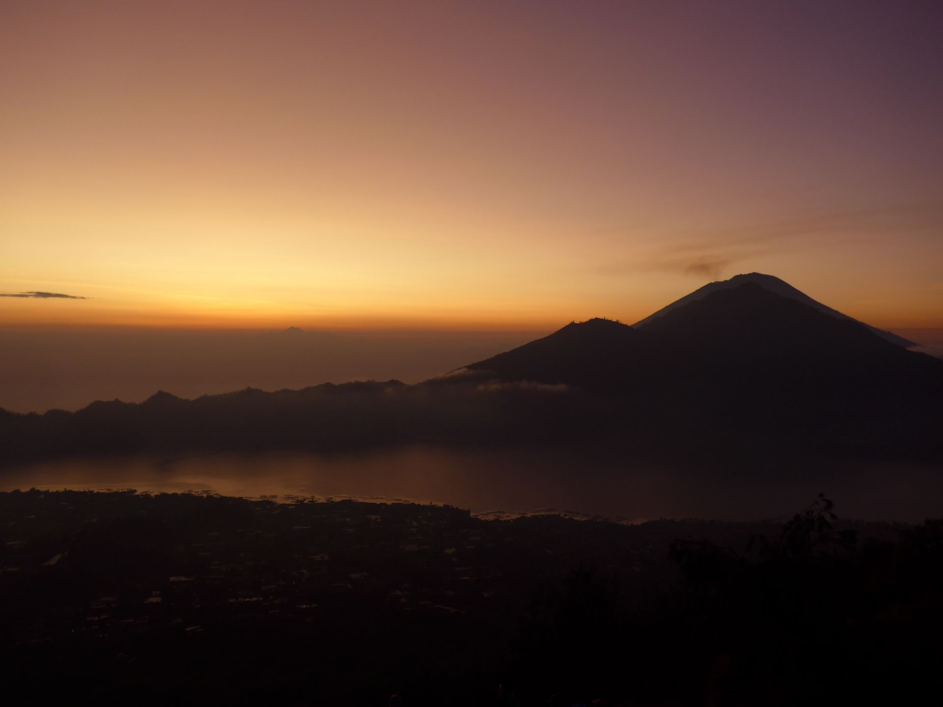 Sunrise am Mount Batur - Der frühe Vogel fängt den Wurm ...