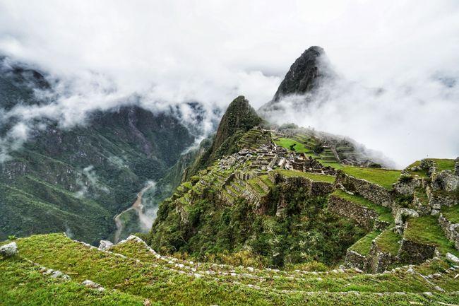 Die berühmte Sicht auf Machu Picchu